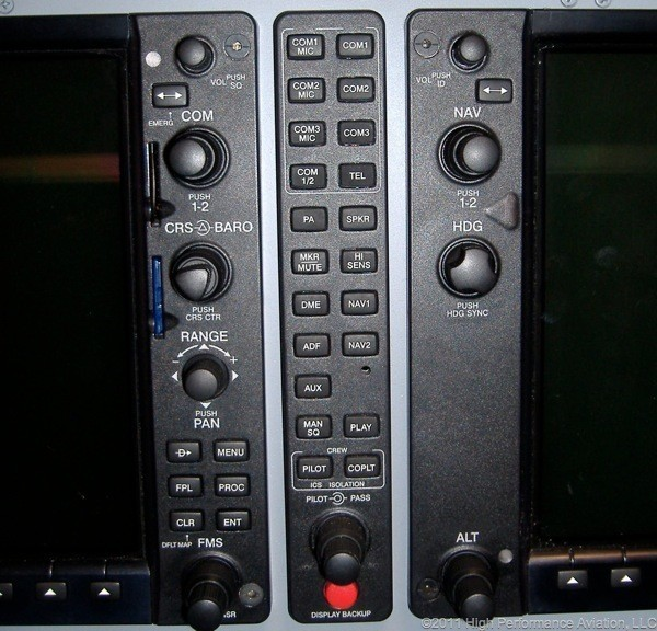 G1000 Display Backup Button
