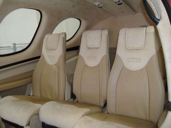 Cirrus Vision Jet Backseat