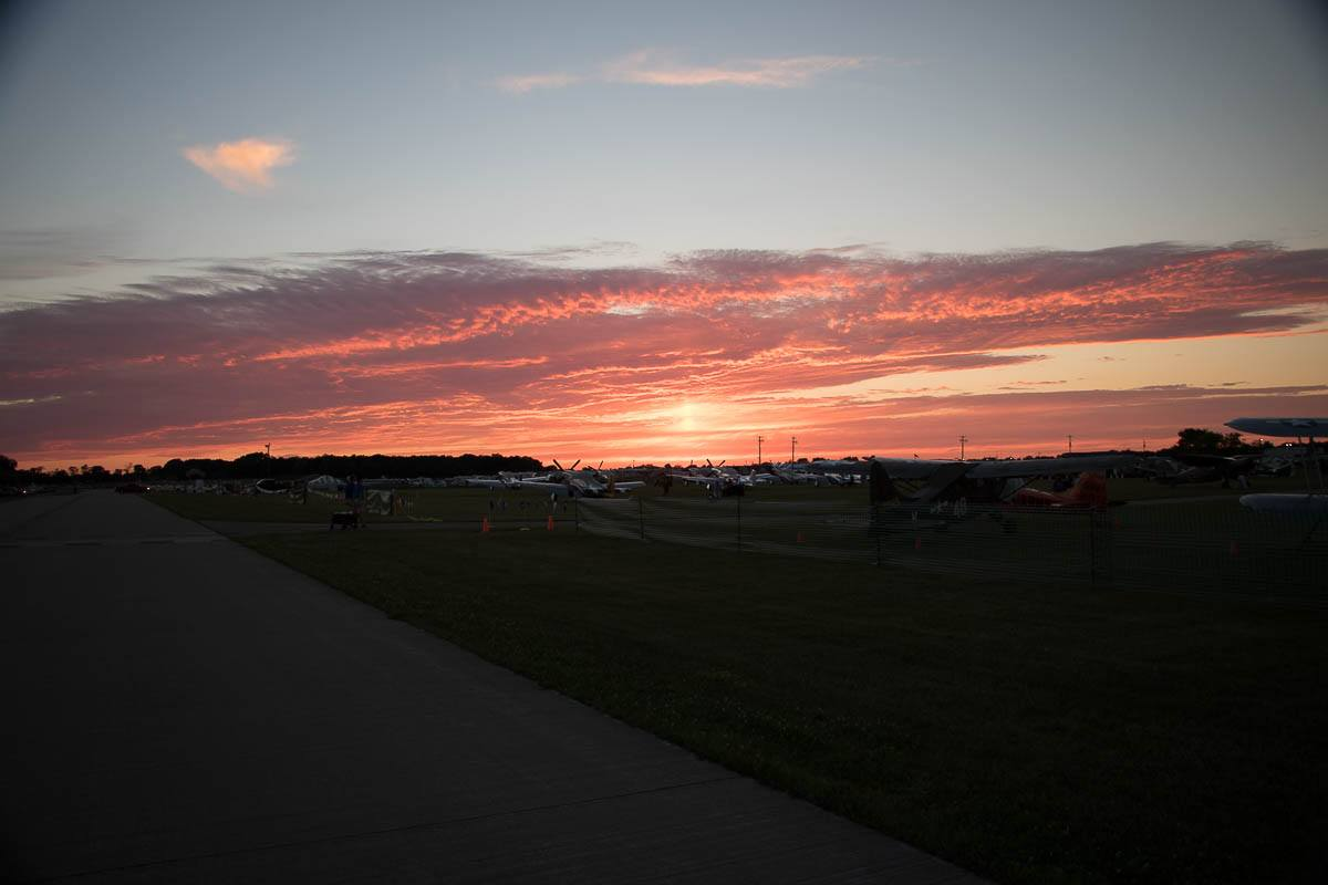 EAA AirVenture Oshkosh Sunset