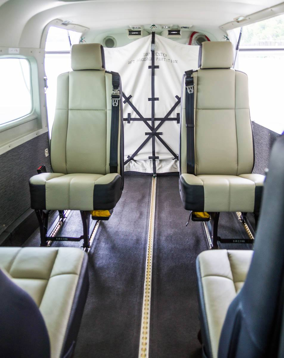 Cessna Caravan Review - Interior Seats and Seat Tracks