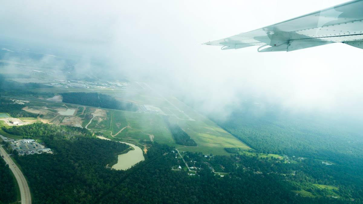 Cessna Caravan Review - Climbing out of Conroe Airport