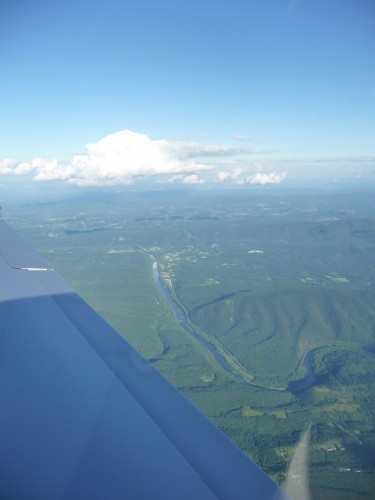 Appalachian Mountains from the air
