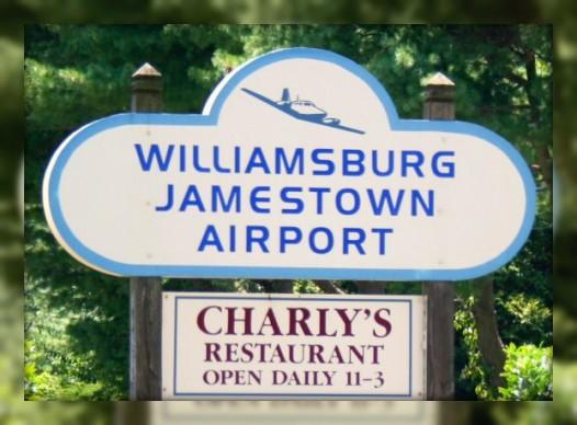 Williamsburg Airport Sign